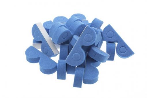 Organizer für Schläuche/Kabel 6mm blau (20 Stück)